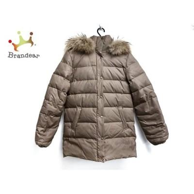 ビアッジョブルー ダウンジャケット サイズ2 M レディース 訳あり ブラウン 冬物/ファー  スペシャル特価 20210115