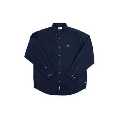 [WOODS] ボタンダウンシャツ メンズ レディース (ネイビー XL)