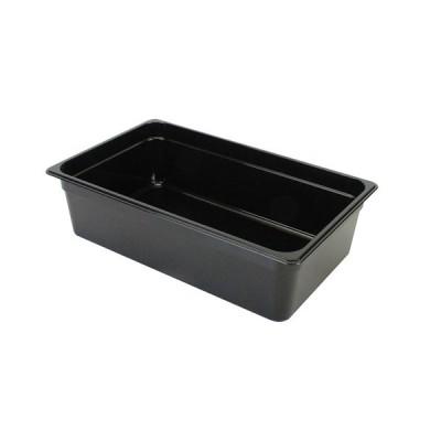 フードパン 1/1 深さ 150mm ブラック 保存用品 調理器具 ポリカーボネート 丈夫 割れにくい 食洗機対応 食器洗浄機対応 業務用 飲食店 PLPA8006BK