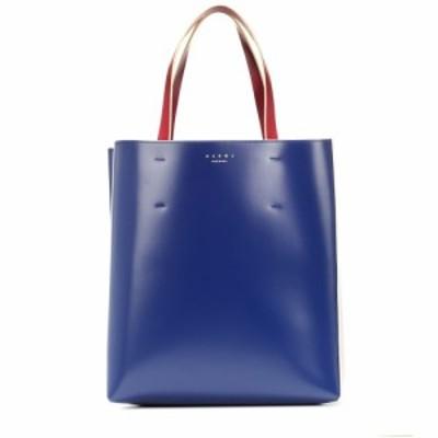 マルニ Marni レディース トートバッグ バッグ Museo Medium leather tote Mazarine Blue