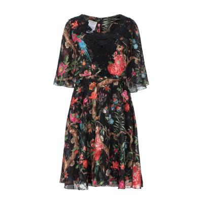 CRISTINAEFFE ミニワンピース&ドレス ブラック 42 ポリエステル 100% ミニワンピース&ドレス