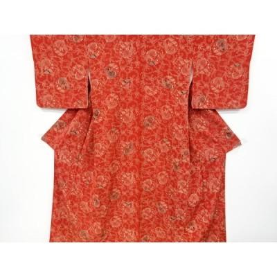 リサイクル 鶴に松竹梅模様小紋着物