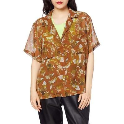 [アングリッド] シャツ 【Ca】アロハプリントシャツ レディース 112020407001 ダークオレンジ 日本 F (FREE サイズ)