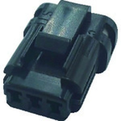 TRUSCO 防水コネクタ ソケットハウジング (10個入)芯数3 被覆外径φ1.3~1.7 黒 P-CB01A6-03B0-02 WO店