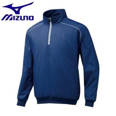 ◆◆ <ミズノ> MIZUNO ハーフZIPジャケット[ジュニア] 12JE5V45 (14:ネイビー)
