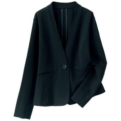 BELLUNA PLUS / 色あせにくいノーカラージャケット WOMEN ジャケット/アウター > ノーカラージャケット