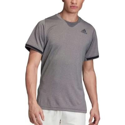 アディダス adidas メンズ テニス Tシャツ トップス FreeLift Tennis T-Shirt Black Melange