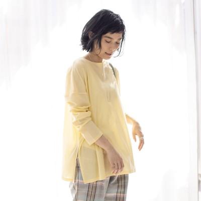 カリテ qualite 【WEB・一部店舗限定】シアーロングTシャツ (イエロー)