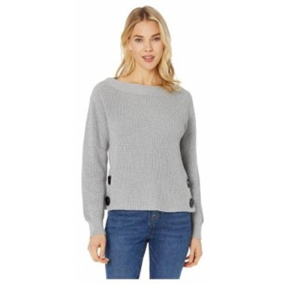 Vince Camuto ヴィンスカムート 服 スウェット Long Sleeve Boat Neck Button Side Sweater