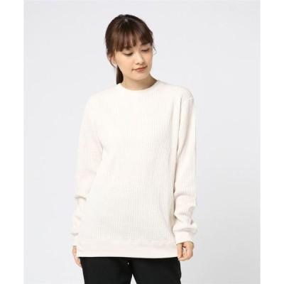 tシャツ Tシャツ 【JE MORGAN/ジェイイーモーガン】ワッフルロングスリーブカットソー
