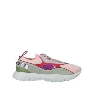 VALENTINO GARAVANI スニーカー&テニスシューズ(ローカット) ピンク 39.5 紡績繊維 / 革 スニーカー&テニスシューズ(ロー