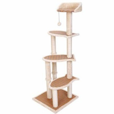 スクラッチポスト、階段状のデザイン、サイザル猫の木と猫ハンモック、猫の(中古品)