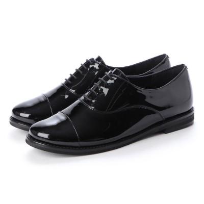 クートゥーフォロワーシューズ KuToo Follower Shoes ジェンダーフリー内羽根レースアップシューズ (エナメルブラック)