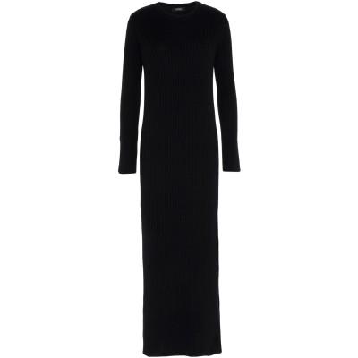 アルファスタジオ ALPHA STUDIO ロングワンピース&ドレス ブラック 42 ウール 100% ロングワンピース&ドレス