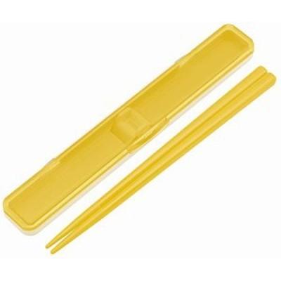 スケーター 箸 箸箱 セット 18cm 銀イオン Ag+ 抗菌 レトロフレンチ イエロー 日本製 ABC3AG