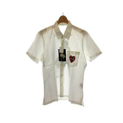 【中古】未使用品 マスターマインド mastermind JAPAN THEATER8 BERNARD HOLLYWOOD Marilyn Monroe シャツ 半袖 S 白 /NT16 メンズ 【ベクトル 古着】