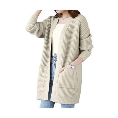 ジョプリンアンドコー 6カラー ロングカーディガン セーター トップス ニット ゆったり 冬物 秋物 カーディガン ポケット付き ゆったりカ