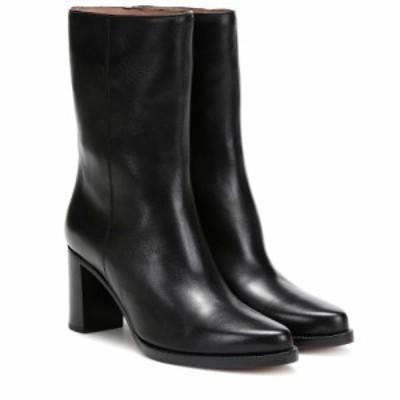 レグレス Legres レディース ブーツ ショートブーツ シューズ・靴 Leather ankle boots Black