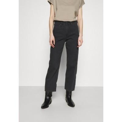 リー デニムパンツ レディース ボトムス WIDE LEG - Relaxed fit jeans - black duns