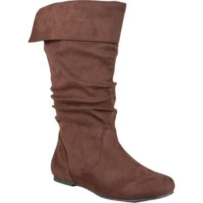 ジュルネ コレクション Journee Collection レディース ブーツ シューズ・靴 Shelley-3 Boot - Wide Calf Brown