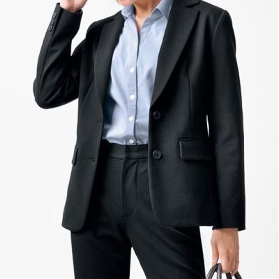 あったか裏地ジャケット(事務服・洗濯機OK・選べる2丈)/ブラックB(ロング)/11AR