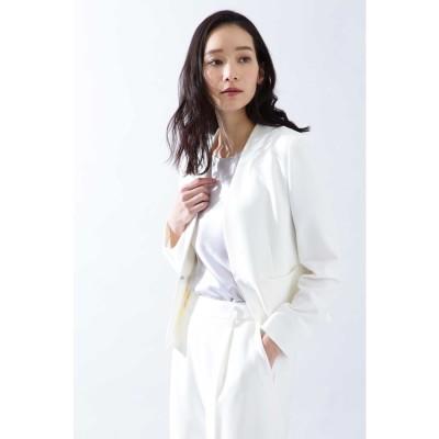 ◆[ウォッシャブル]《B ability》2WAYオックスセットアップジャケット ホワイト