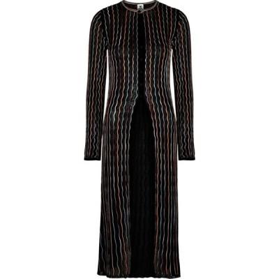 ミッソーニ M Missoni レディース カーディガン トップス Black Embroidered Fine-Knit Cardigan Black