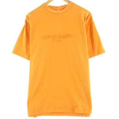 90年代 ゲス Guess ロゴTシャツ USA製 レディースXL /eaa058604