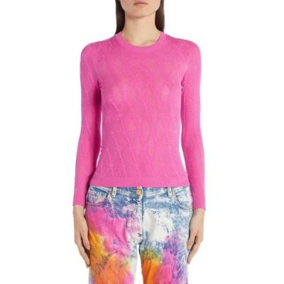 ヴェルサーチ ニット&セーター アウター レディース V-Knit Sweater Pink