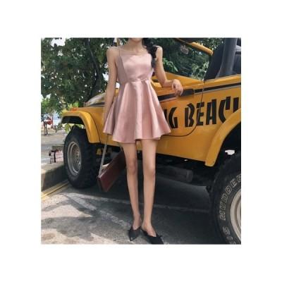 ピンク キャミソール パーティードレス レディース ワンピース お呼ばれドレス kh-0950