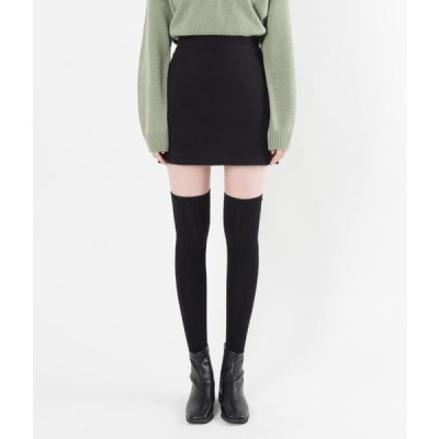 レディース スカート Basic Wool Blend Mini Skirt