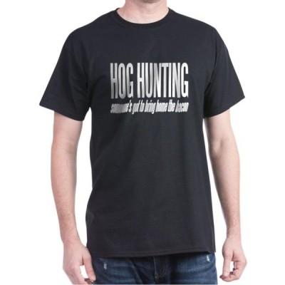 ユニセックス 衣類 トップス CafePress - Hog Hunting - 100% Cotton T-Shirt Tシャツ