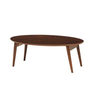 だ円形折りたたみリビングテーブル