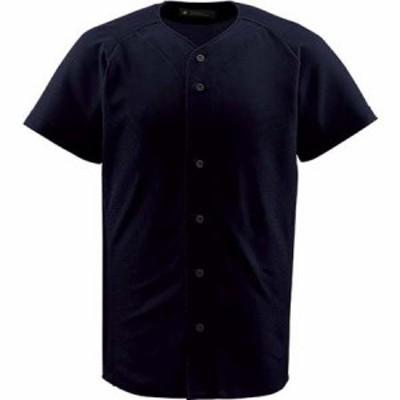 デサント(DESCENTE) フルオープンシャツ BLK DB-1010 【野球 ウエア ユニホーム ベースボールシャツ】