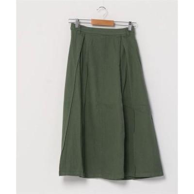 スカート カツラギタックロングスカート