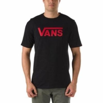 Vans バンズ ファッション トップス Vans Off The Wall Mens Classic Logo Graphic T-Shirt - Black/Cardinal