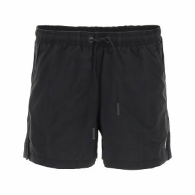 MARCELO BURLON/マルセロ バーロン Black Marcelo burlon swim trunks with fire cross logo embroidery メンズ 春夏2021 CMFA003R21FAB0