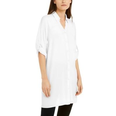 アルファニ シャツ トップス レディース Roll-Tab Tunic Shirt Soft White