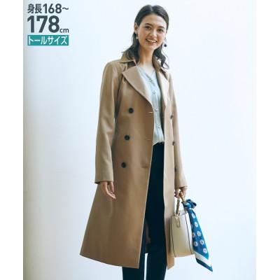 トールサイズ トレンチコート(共布ベルト付) 【高身長・長身】コート, tall, Coat