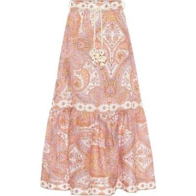 ジマーマン Zimmermann レディース ロング・マキシ丈スカート スカート Paisley linen maxi skirt Citrus Paisley