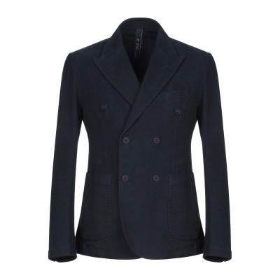 FAG テーラードジャケット ダークブルー 50 コットン 97% / ポリウレタン 3% テーラードジャケット