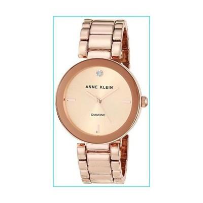 Anne Klein Women's AK/1362RGRG Rose Gold-Tone Diamond-Accented Bracelet Watch【並行輸入品】