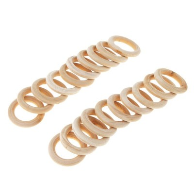 DIYの工芸品の装飾のための木製の歯がためのリングを作る20個のDIYジュエリー35ミリメートル