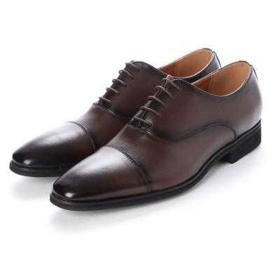 ジョーマリノ JO MARINO 日本製 本革 メンズ ビジネスシューズ 紳士靴 ストレートチップ 内羽根 防滑 (ブラウン)