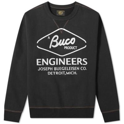 ザ リアル マッコイズ The Real McCoys メンズ スウェット・トレーナー トップス The Real McCoy's Buco Engineer Crew Sweat Black