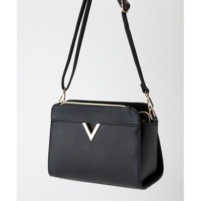 V金具デザインショルダーバッグ ショルダーバッグ・斜め掛けバッグ, Bags