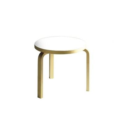 テーブル90D / ホワイトラミネート φ48×H44cm   Artek / アルテック