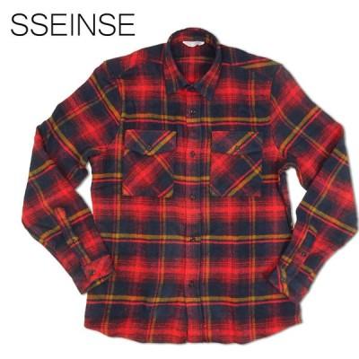 SSEINSE センス フランネルチェックシャツ メンズ CI570SS レッド 長袖