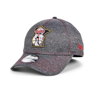 ニューエラ 帽子 アクセサリー メンズ Men's Minnesota Twins South Club 39THIRTY Cap Gray