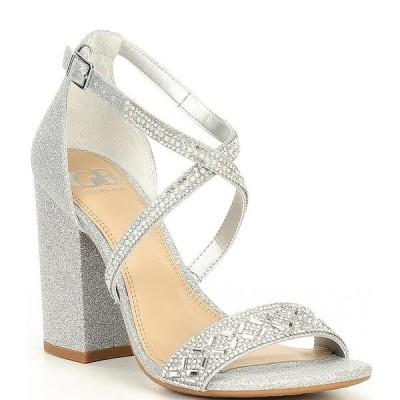 ジービー レディース サンダル シューズ Out-Shine Embellished Block Heel Sandals Silver